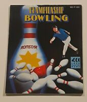 Championship Bowling Instructions Only NES Nintendo
