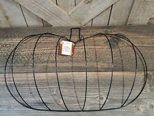 Floral Garden Pumpkin Wreath Metal Wire Form Fall Craft Metal Diy Frame Mesh 3D