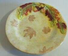 Gibson Elite FALL LEAVES AND ACORNS Salad Plate - New