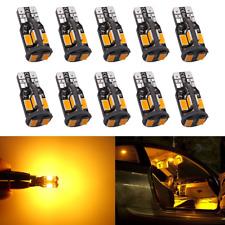 Antline 194 168 2825 T10 W5W Error Free LED Bulb Amber Yellow Super Bright 300