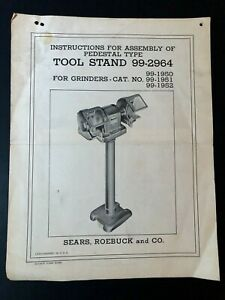 VINTAGE CRAFTSMAN ASSEMBLY INSTRUCTIONS ~ Tool Stand 99-2964