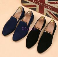 HOT Spring Mens Suede Leather Shoes Casual Formal Dress Slip On Loafer Oxfords