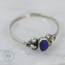 Sterling Silver | Flower Accent Lapis Lazuli 0.6g | Ring (6) MQ1843