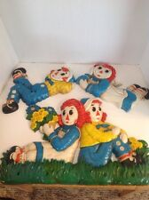 Vintage Raggedy Ann & Andy 1977 Wall Hangings Set Of 3