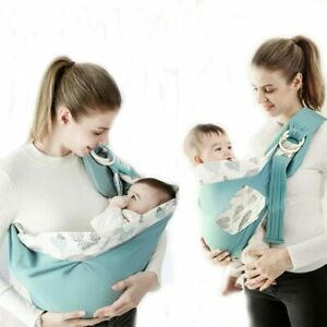 Baby Wrap Newborn Sling Dual Use Infant Nursing Cover Carrier Mesh Fabric Breast