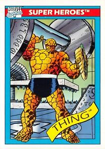 THING / 1990 Marvel Universe Series 1 (Impel) BASE Trading Card #6