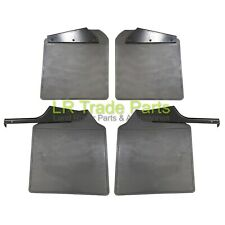 LAND ROVER DEFENDER 110 NEW FRONT & REAR MUDFLAPS WITH BRACKETS MUD FLAP KIT SET