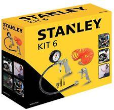 Kit 6 Accessori Compressore Stanley pistola soffiaggio gonfiaggio aerografo