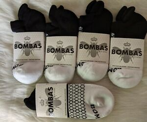 Bombas Ankle Socks for Women, Size S - Black and white. 5 pair