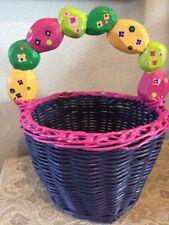 Vintage, Easter Basket Wooden Hand Painted
