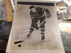STEVE HRYMNAK NEW YORK ROVERS RANGERS NHL AHL HOCKEY PHOTO 1946 AUTOGRAPHED