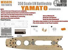 Wood Hunter 1/350 IJN Battleship Yamato Wooden Deck for Tamiya #78025 kit