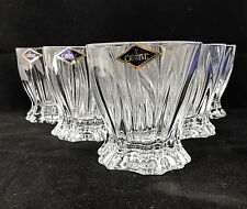 Crystal Set of 6 Rocks Glass Whiskey Cognac Vodka Tumbler 10oz / 320ml Bohemia