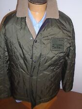 Barbour International Fleece Lined Quilted Pebbels Jacket  NWT XL $329 Olive