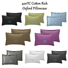 2 x Oxford Pillow Case Covers 400TC Luxury Cotton Rich Pillowcases - Super Soft