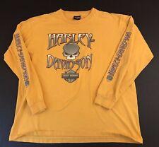 Mens Harley Davidson Motorcycles Denton Texas T-Shirt 2XL XXL  Longsleeve