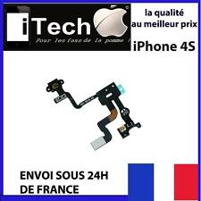 NAPPE BOUTTON POWER IPHONE 4S ON OFF + SONDE CAPTEUR DE PROXIMITE  vendeur FR