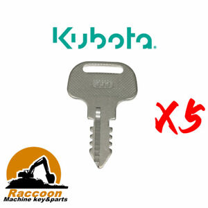 5pcs Fits KUBOTA Key 18510-63720 393 Ignition Kubota M Series Tractors
