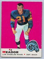 1969  ED MEADOR - Topps Football Card- # 56 - LOS ANGELES RAMS