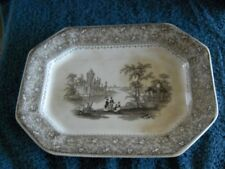 Antique T.J. & J. Mayer 1870 to 1880 English Ironstone Platter 13x10x1.5