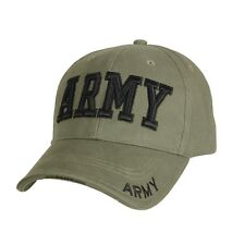 US Army Embroidered Ball Cap Hat Infantry Airborne Cavalry OIF OEF OD Green