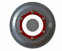 "ONE 4"" Valcrum Aluminum Hub Cap Dexter 10K-16K Trailer Axle Grease/Oil 21-36"