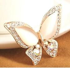 Pretty Pale Pink Vintage Style Butterfly Brooch - Fashion Rhinestone Brooch Pin