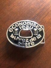 Funny With Bottle Opener Belt Buckle Economiser L'eau Buvez De La BiereFrench