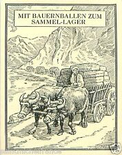 Macedonia Ox Bauer bales transit camp TOBACCO HISTORY HISTOIRE DU TABAC CARD 30s