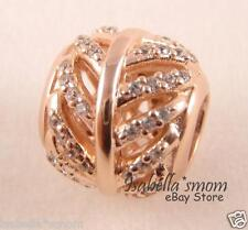 LIGHT AS A FEATHER Authentic PANDORA Rose GOLD Plated Charm 781186CZ NEW w POUCH