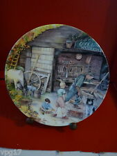 BRADFORD EXCHANGE ROYAL DOULTON  OLD COUNTRY CRAFTS  THE WHEELWRIGHT  PLATE