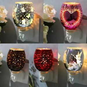 ELECTRIC UK PLUG-IN WAX WARMER, SILVER 3D TREE OF LIFE RED PINK GOLD HEART
