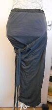 Lagenlook Rick Owens Dustulator Skirt in Dark Shadow UK 10 rare & vintage wool