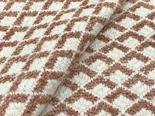 Thibaut Art Deco Geometric Chenille Uphol Fabric- Scala / Blush 2.20 yd W80727