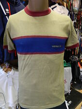 "Authentic Retro 80's Collection Adidas Original NEW Khaki T-Shirt 34"" Chest Size"
