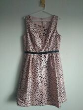 Review Dress - Pink With Black Polka Dots, Size 14