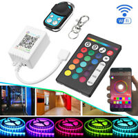 bluetooth APP Remote Control RGB Music LED Strip Light 24 Key+ 4 key Controller