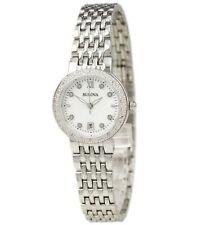 Bulova Women's Diamond Accents Quartz Mother of Pearl Dial 26mm Watch 96R203