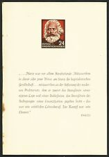 EAST GERMANY, KARL MARX YEAR BOOK, SHEET 9 OF 10, YEAR 1953, UNPERFORATED