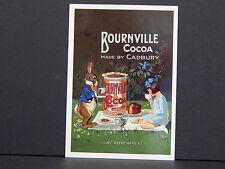 One Reproduction Postcard Bournville Cadbury Cocoa