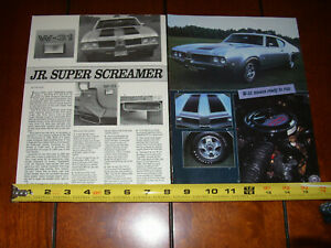 1969 OLDSMOBILE CUTLASS W31 ORIGINAL 1990 ARTICLE