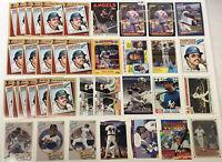 REGGIE JACKSON Baseball Cards Lot Of 37 1977 - 2011 Topps, Leaf, Upper Deck HOF
