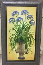 """""""Blue Bouquet"""" Oil On Canvas Signed Z. Selina Still Life Painting~Orig. $400-A"""
