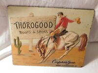 THOROGOOD BOOTS & SHOES ADVERTISING SIGN 1940's