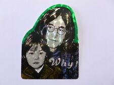 VECCHIO ADESIVO ORIGINALE / Old Original Sticker BEATLES JOHN LENNON (cm 6 x 8)