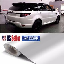 "108""x60"" Premium GLoSSy White Vinyl Wrap DIY Sticker Film Sheet Air Bubble Free"