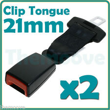 2x 21mm Car Vehicle Seat Belt Seatbelt Extension Extender Strap Safe Buckle AU