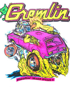 AMC Gremlin early 70's Vintage Classic T-shirt NOS 0090  S.M.L or XL