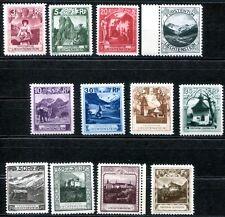 Liechtenstein 1930 94-105 ** post frescos parte frase 1600 € (z7865
