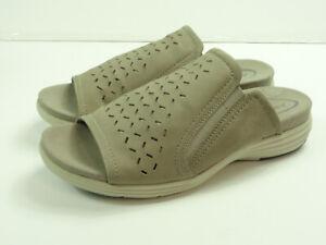 ARAVON Women's Beaumont Peep Slide Comfort Walking Sandals Size 10 EE